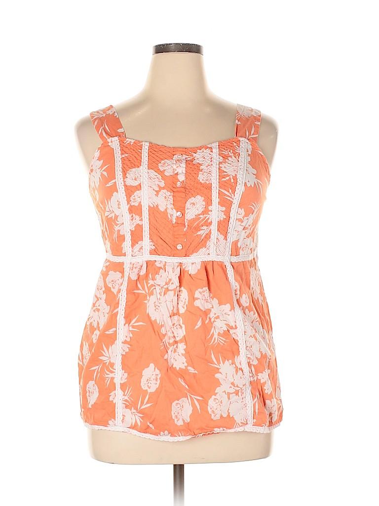 DressBarn Women Sleeveless Blouse Size 14 (Plus)