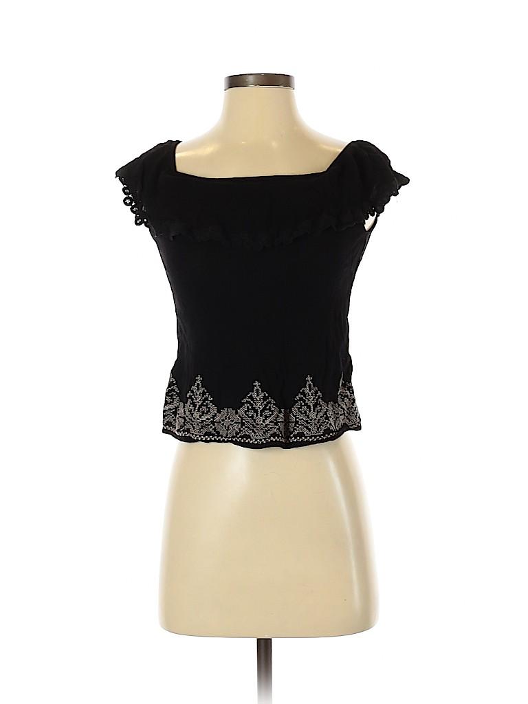 Chloe K Women Short Sleeve Blouse Size XS