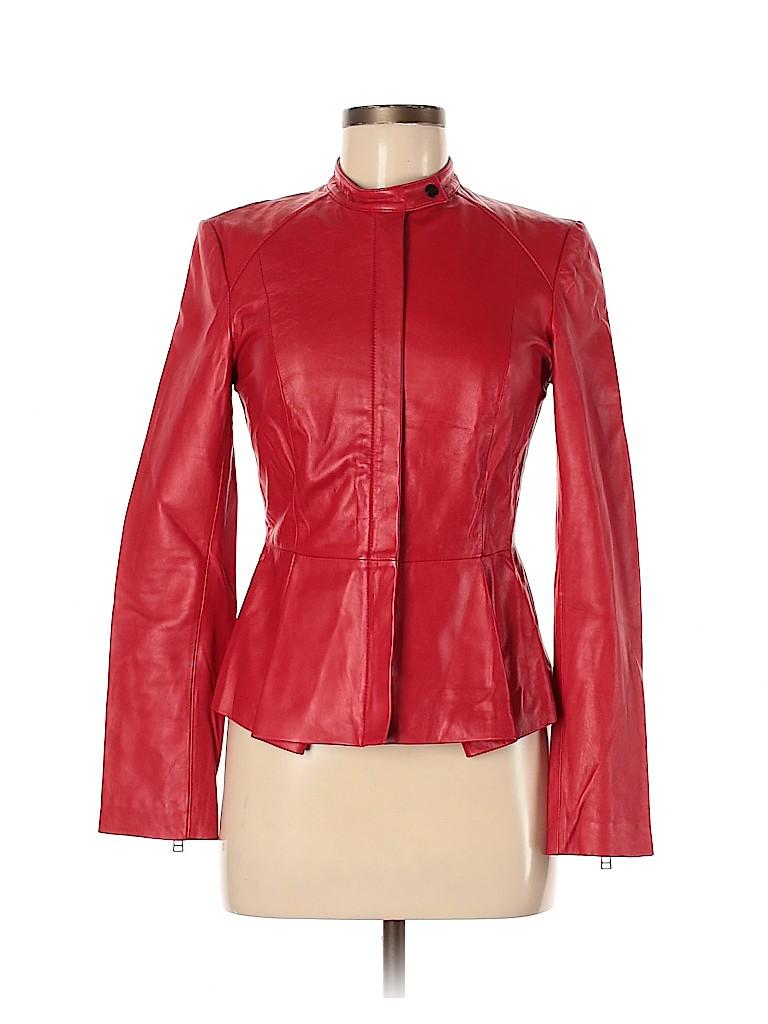 Robert Rodriguez Women Leather Jacket Size 6