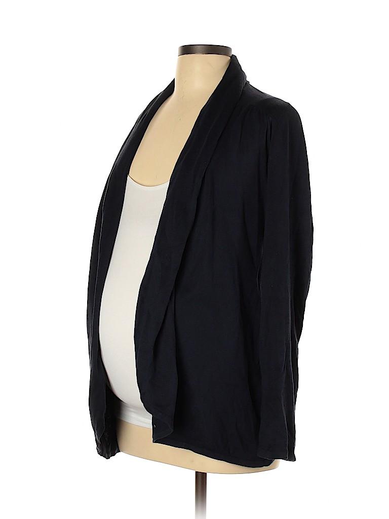 A Pea in the Pod Women Silk Cardigan Size L (Maternity)