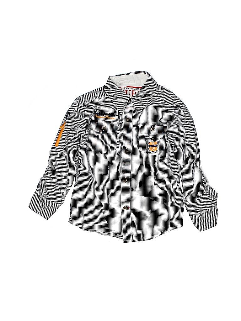 Guess Boys Long Sleeve Button-Down Shirt Size 4