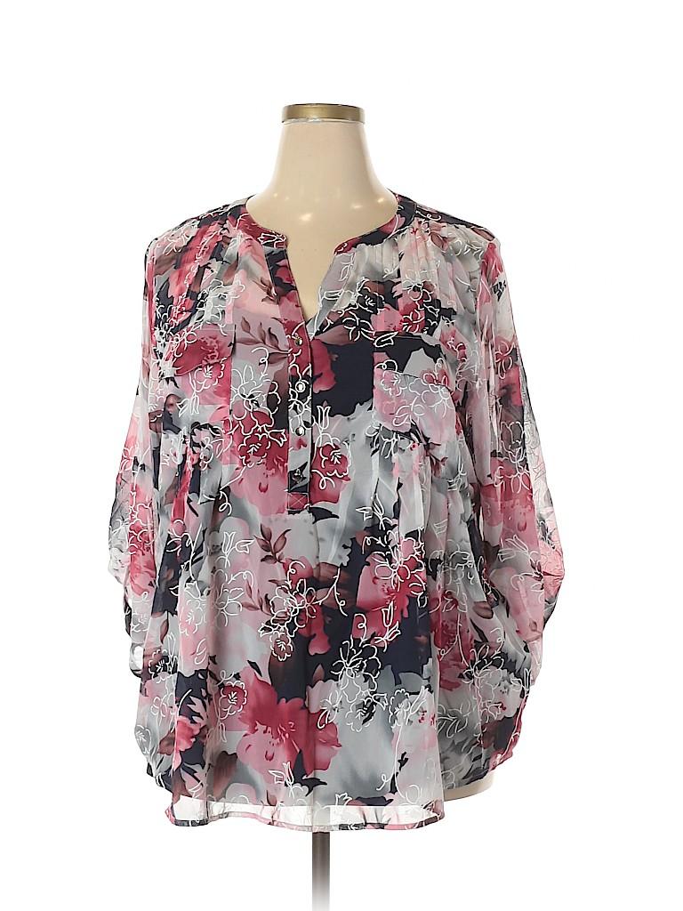 Avenue Women 3/4 Sleeve Blouse Size 22/24 (Plus)