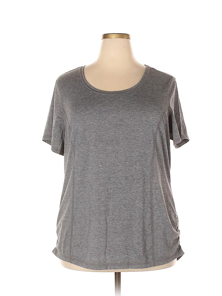 Danskin Now Women Active T-Shirt Size 2X (Plus)