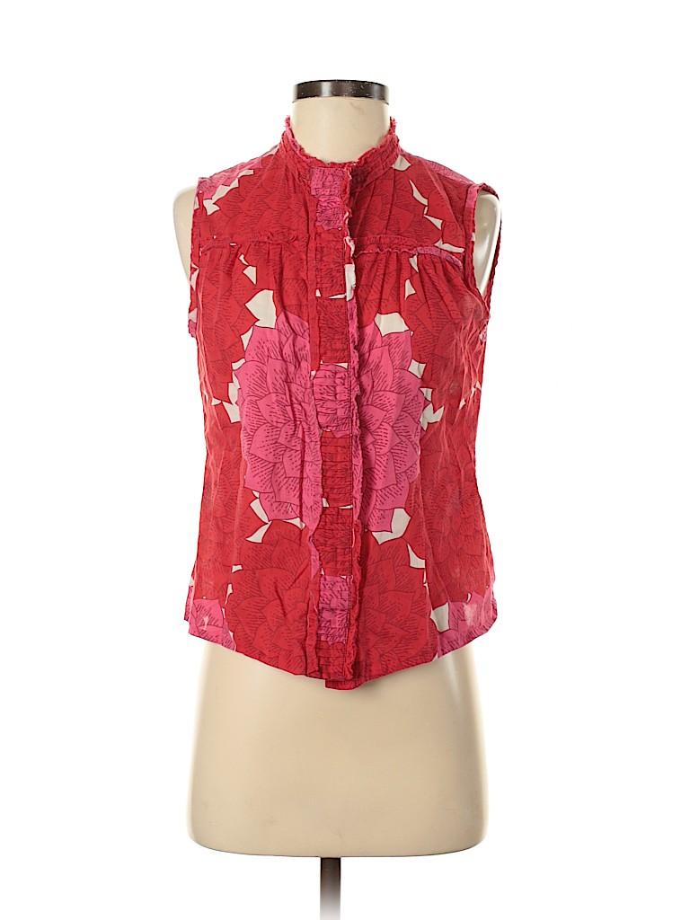 Tory Burch Women Sleeveless Button-Down Shirt Size S