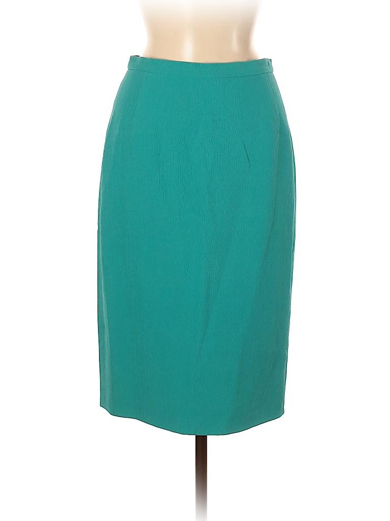 Oscar De La Renta Women Silk Skirt Size 6