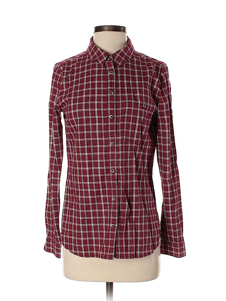 Treasure & Bond Women Long Sleeve Button-Down Shirt Size S