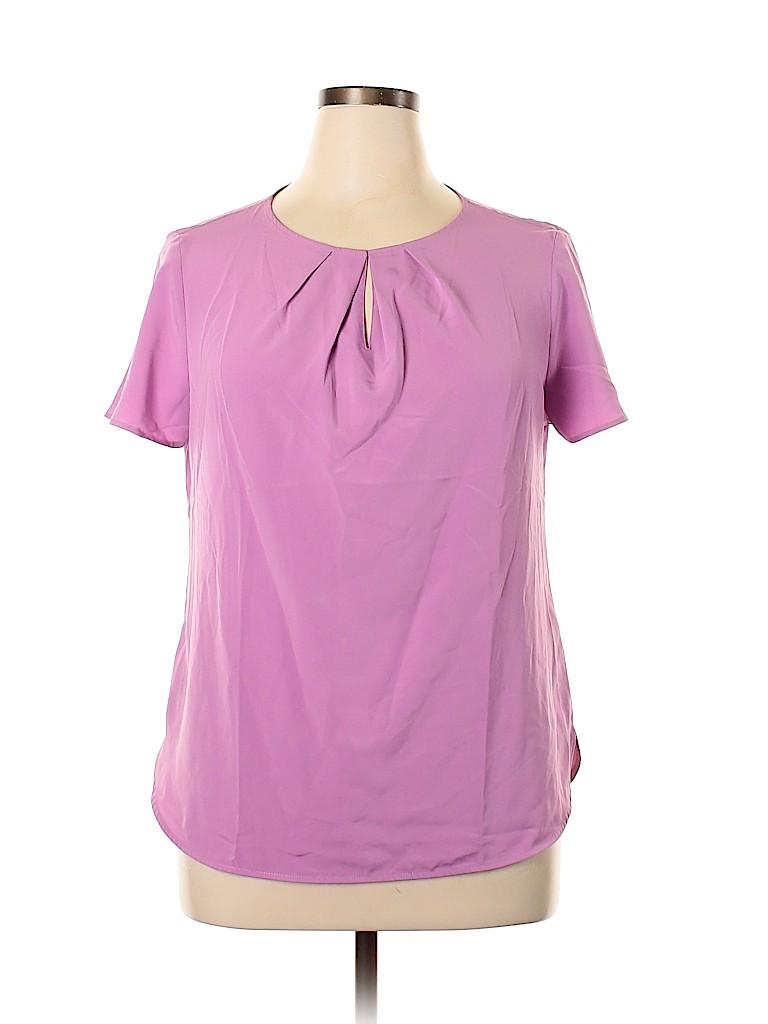 Lands' End Women Short Sleeve Blouse Size 14