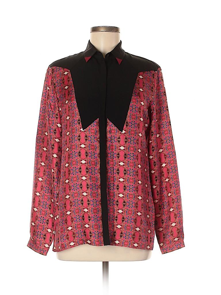 ETRO Women Long Sleeve Silk Top Size 42 (IT)