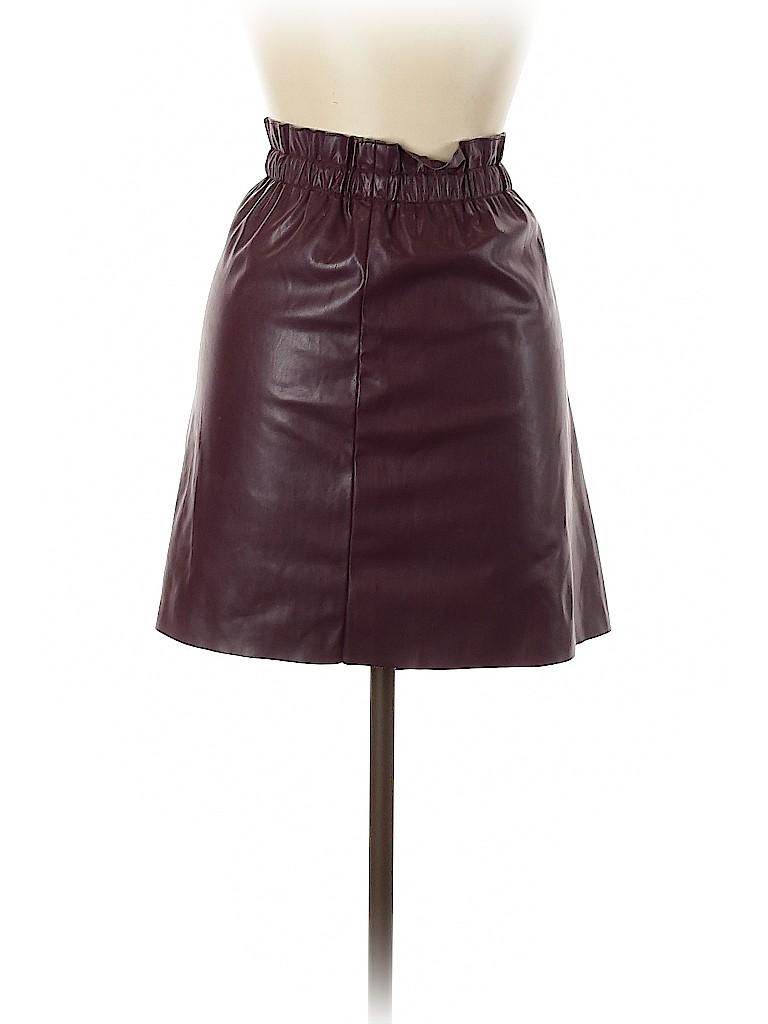 Ann Taylor LOFT Women Faux Leather Skirt Size M