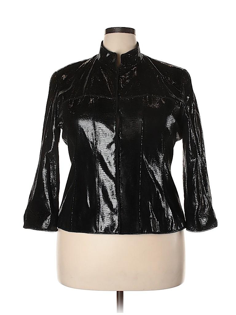 Doncaster Women Faux Leather Jacket Size 16