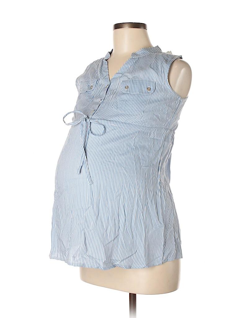 Times Two Maternity Women Sleeveless Blouse Size M (Maternity)