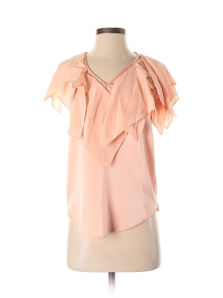 BOSS by HUGO BOSS Women Short Sleeve Silk Top Size 2