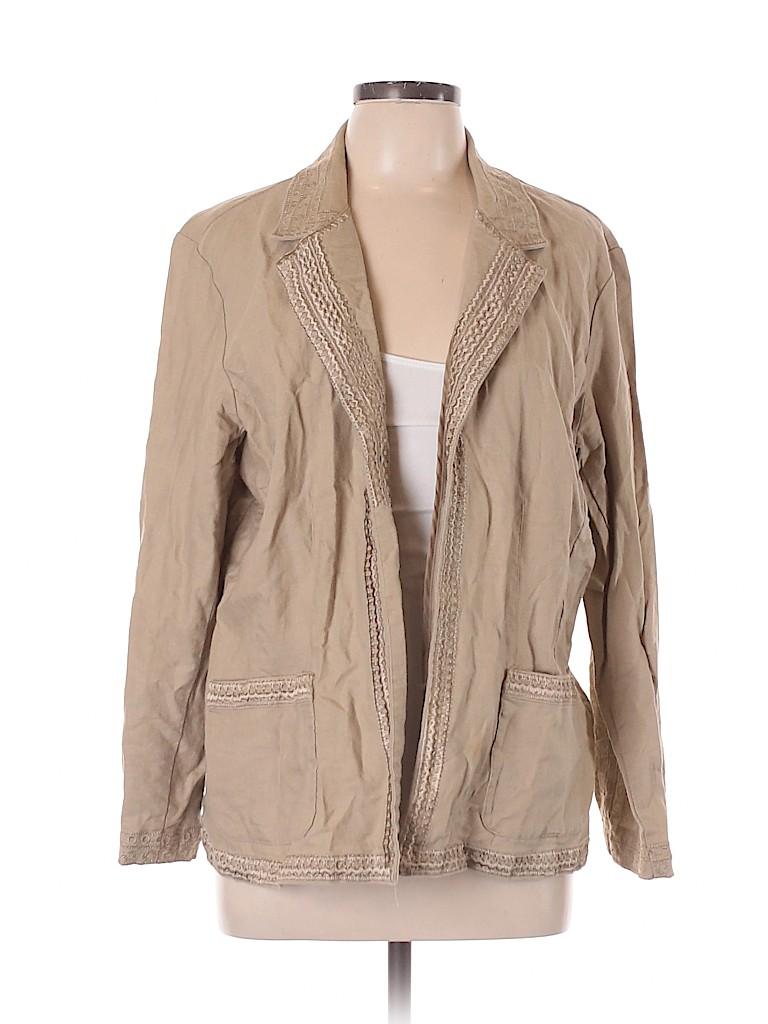 Coldwater Creek Women Blazer Size XL (Petite)