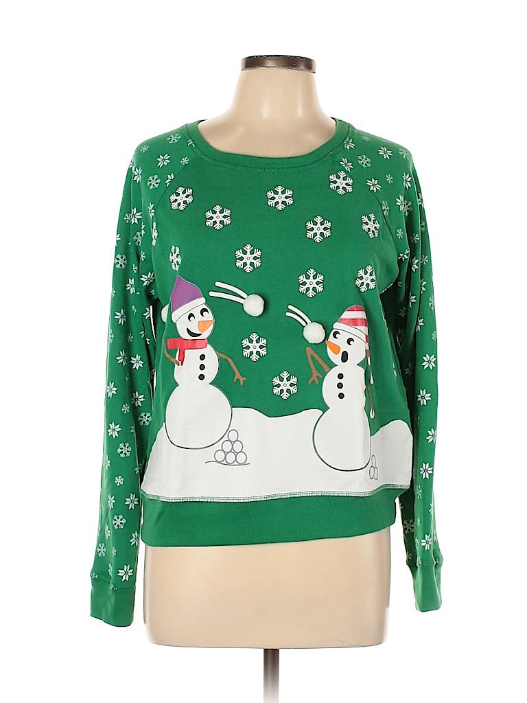 Joe Boxer Women Pullover Sweater Size L
