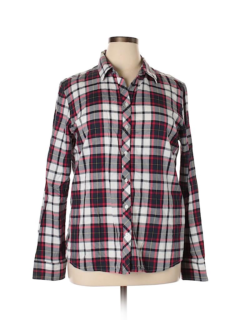 Banana Republic Women Long Sleeve Button-Down Shirt Size XL