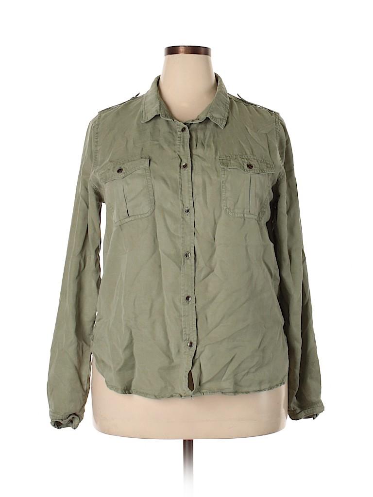 Universal Thread Women Long Sleeve Button-Down Shirt Size XL