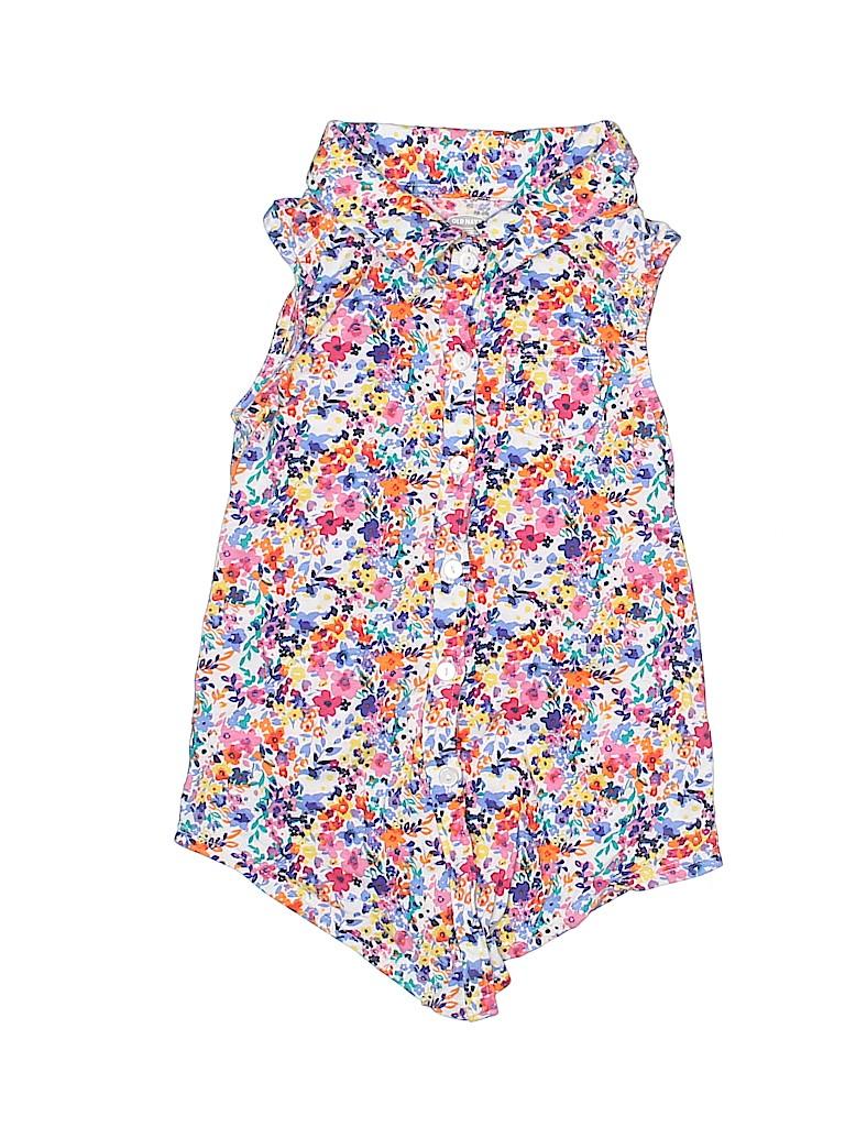 Old Navy Girls Sleeveless Button-Down Shirt Size 5T