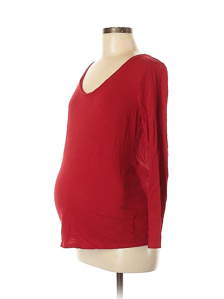 Motherhood Women Long Sleeve T-Shirt Size M (Maternity)
