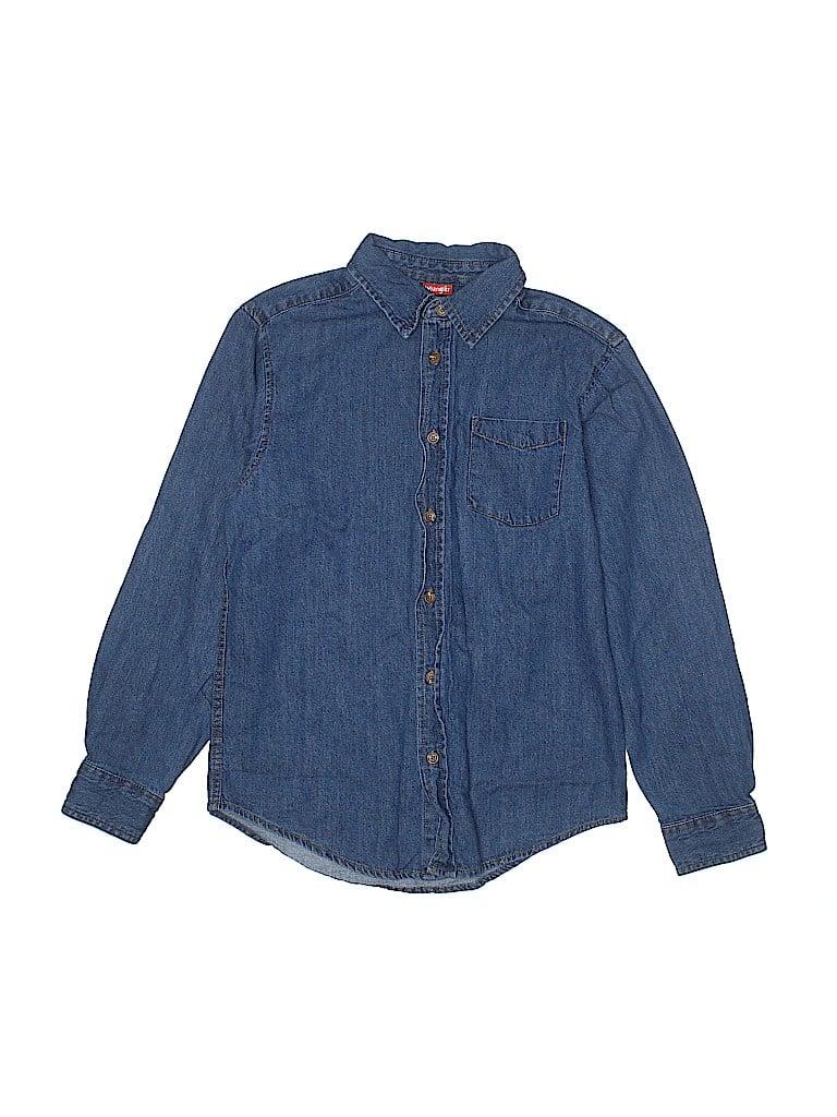 Wrangler Jeans Co Boys Long Sleeve Button-Down Shirt Size 14 - 16