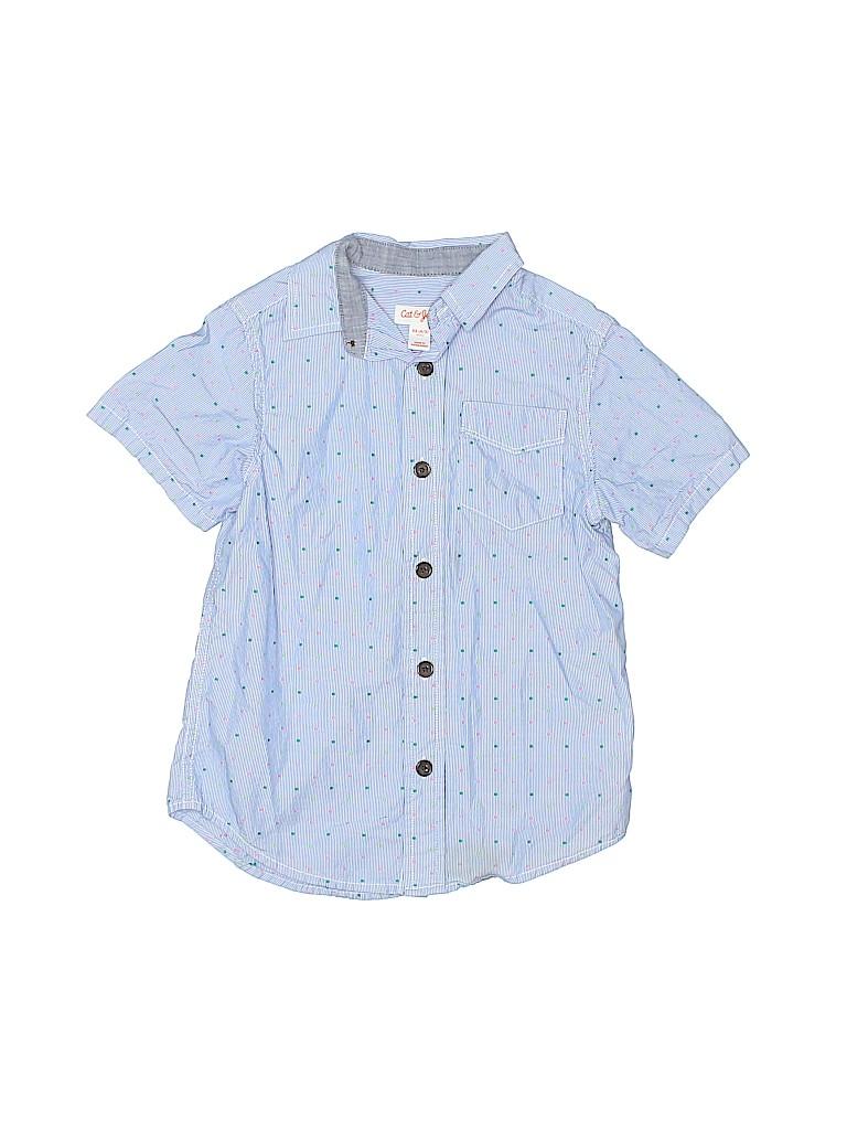 Cat & Jack Boys Short Sleeve Button-Down Shirt Size 4 - 5
