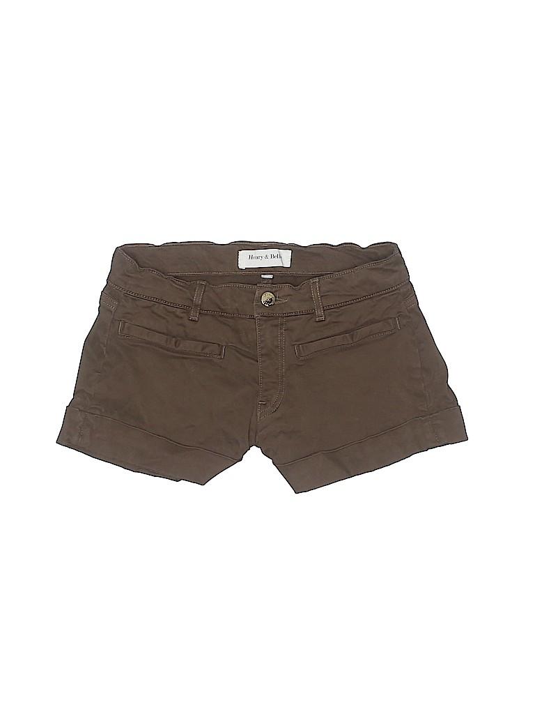 Henry & Belle Women Khaki Shorts 24 Waist