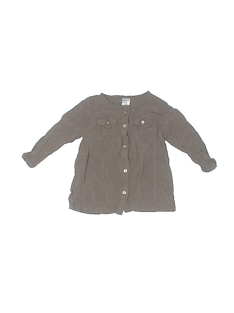Carter's Girls 3/4 Sleeve Button-Down Shirt Size 18 mo
