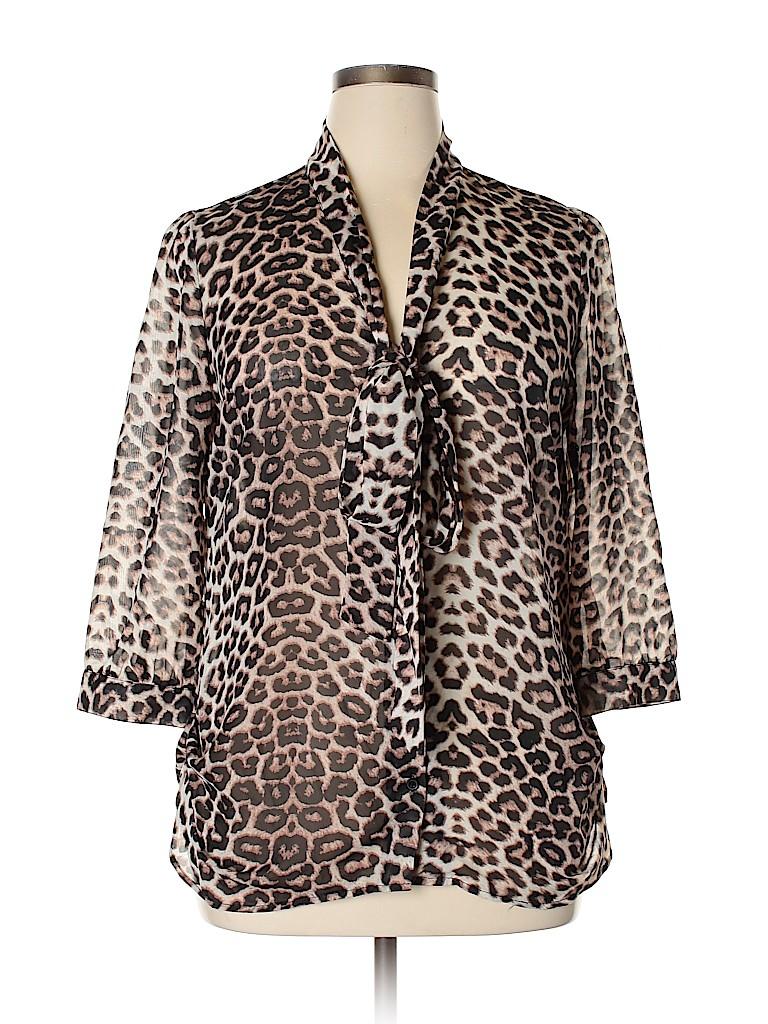 Rue21 Women 3/4 Sleeve Blouse Size L