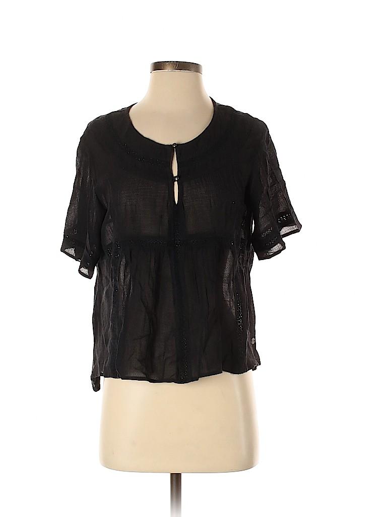 Roxy Women Short Sleeve Blouse Size S