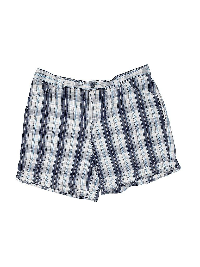 Bobbie Brooks Women Khaki Shorts Size 1X (Plus)