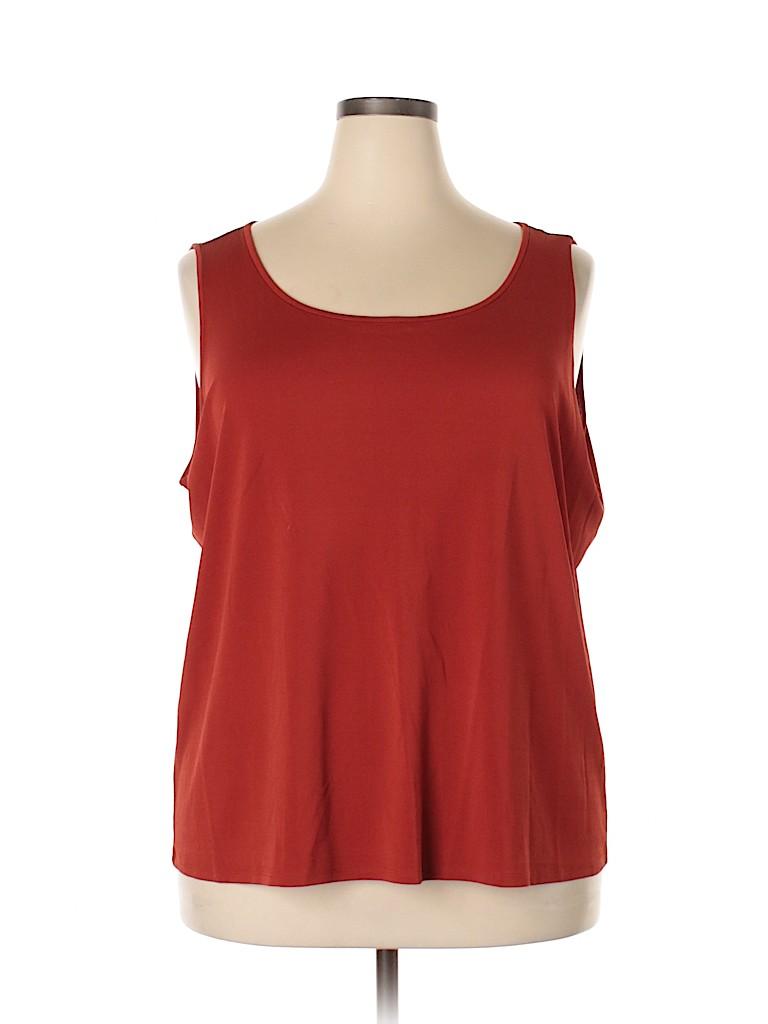 Eileen Fisher Women Sleeveless Silk Top Size 3X (Plus)