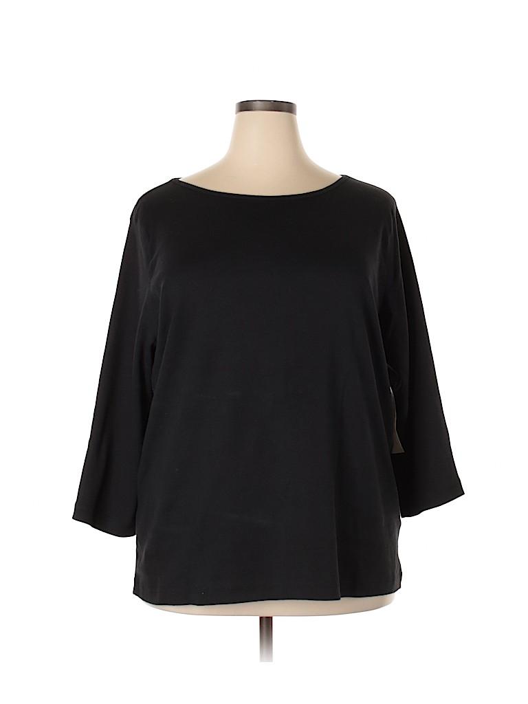 Jones New York Women Long Sleeve T-Shirt Size 3X (Plus)