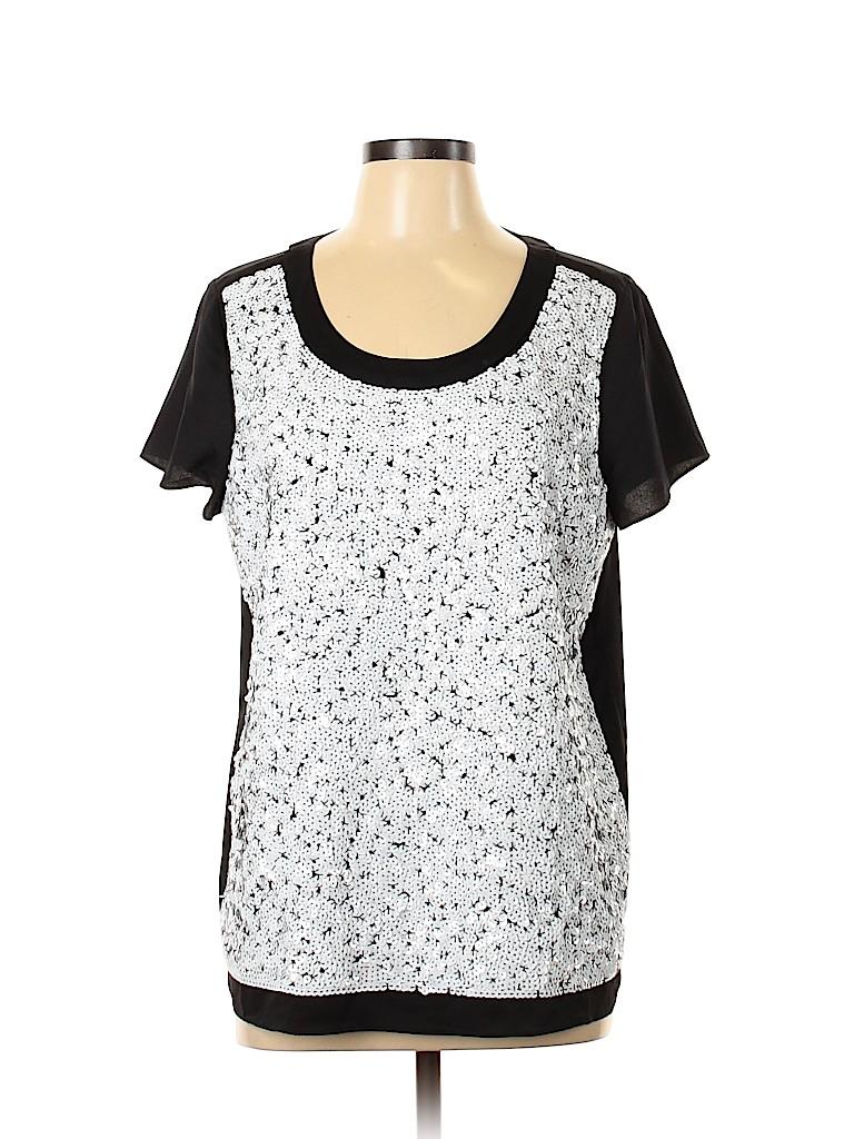 Ann Taylor Women Short Sleeve Blouse Size L