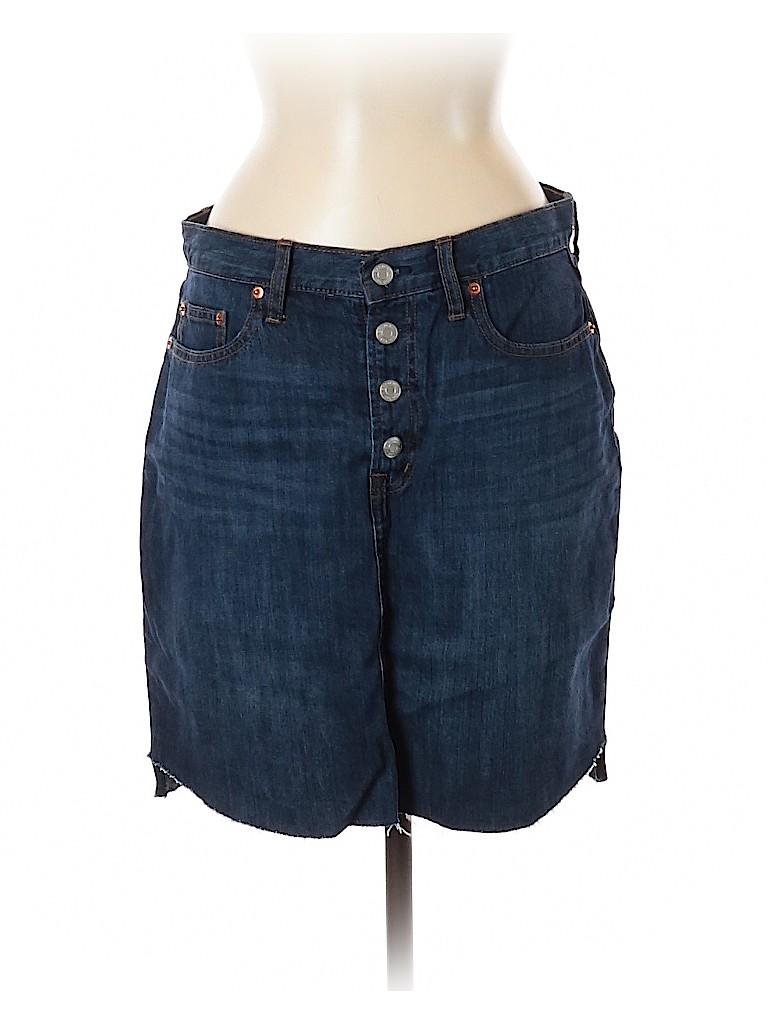 Gap Women Denim Skirt 30 Waist (Tall)