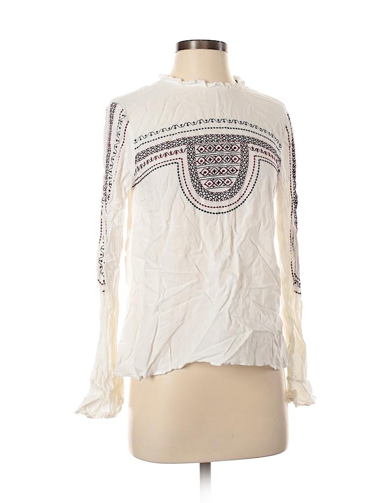 Zara Basic Women Long Sleeve Top Size M