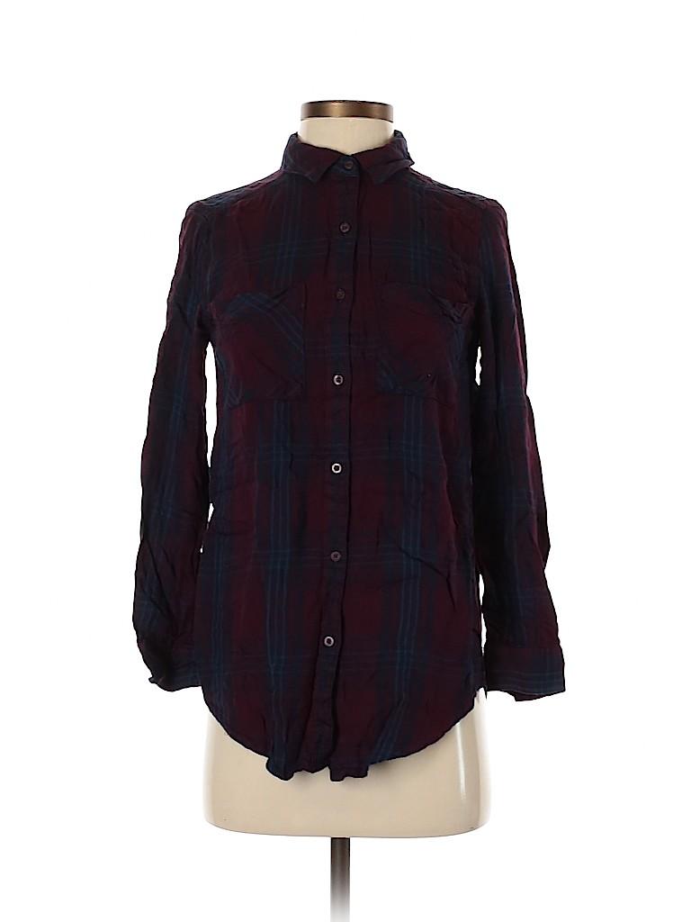 BP. Women Long Sleeve Button-Down Shirt Size XXS