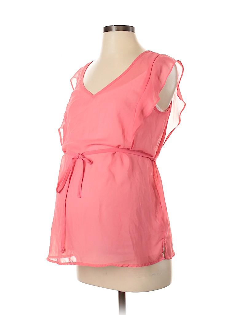 Motherhood Women Short Sleeve Blouse Size S (Maternity)