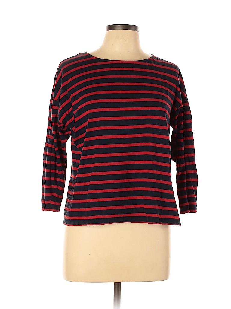 Zara Basic Women 3/4 Sleeve T-Shirt Size M