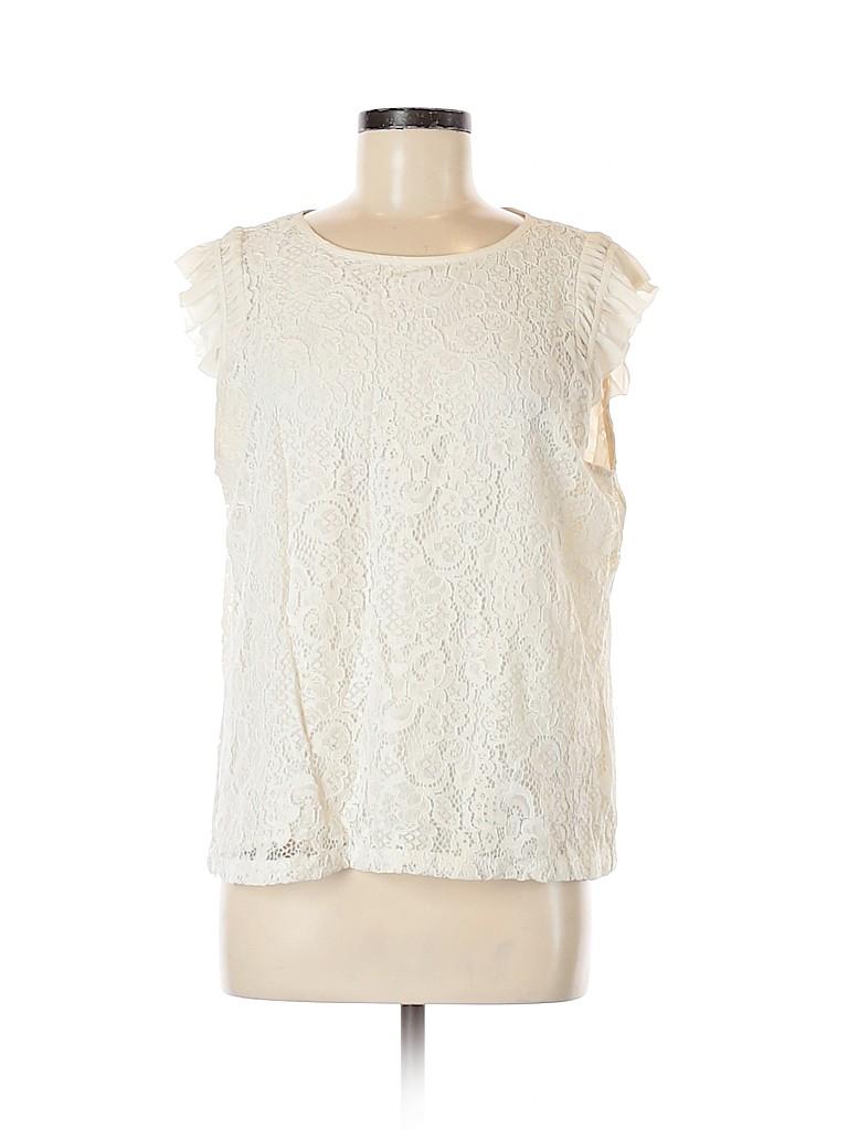 Ann Taylor LOFT Women Short Sleeve Blouse Size L