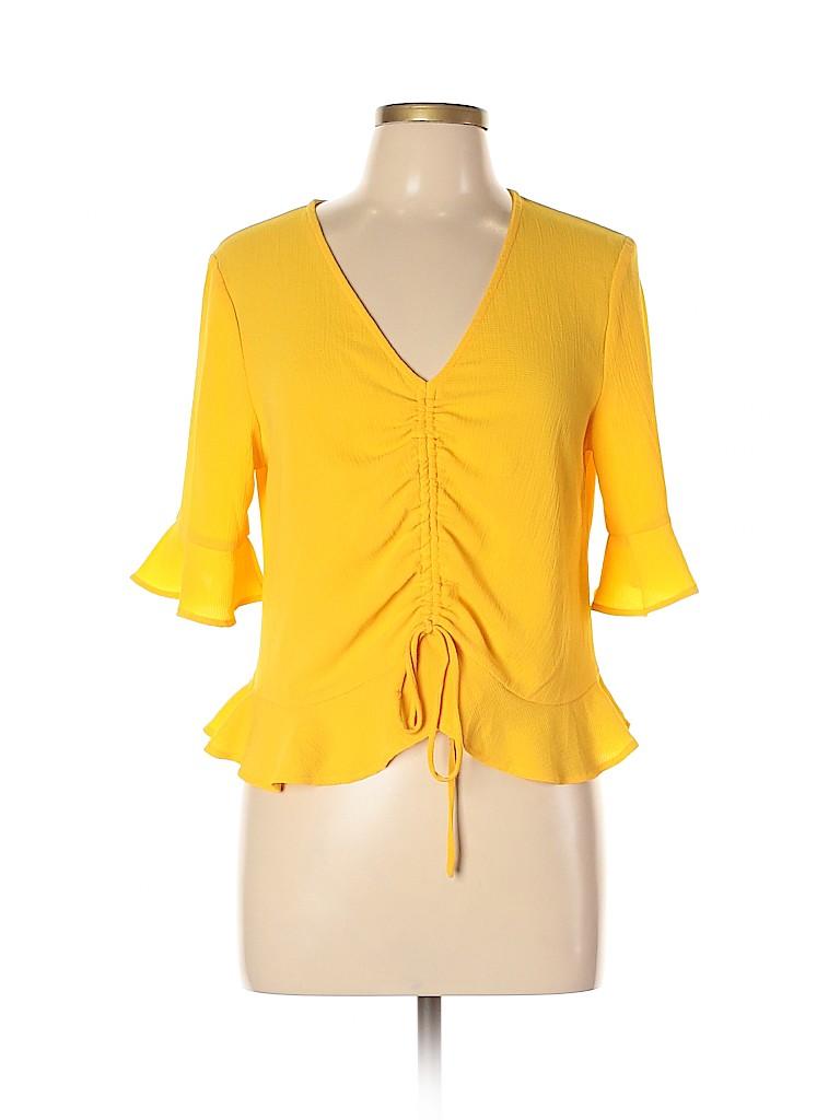 Elodie Women Short Sleeve Blouse Size L