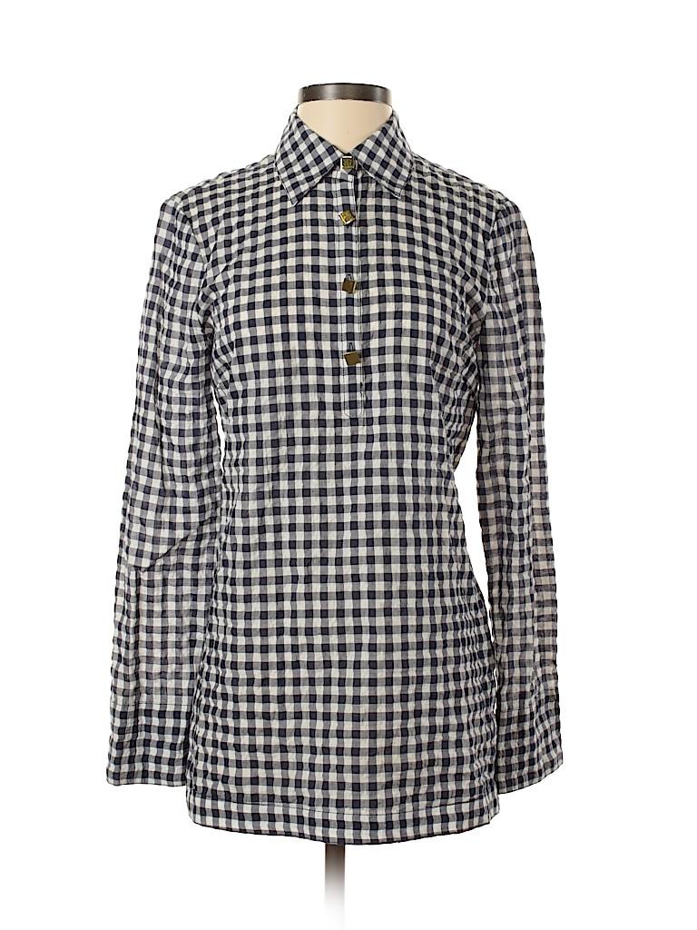 Tory Burch Women Long Sleeve Button-Down Shirt Size 2