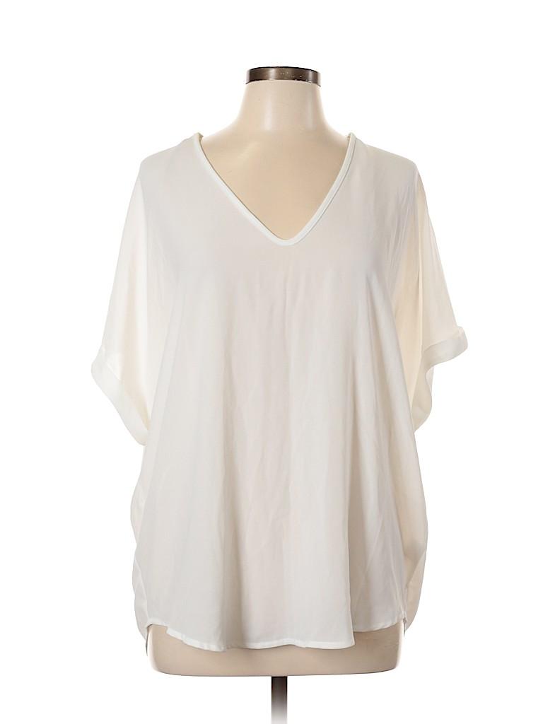 Lush Women Short Sleeve Blouse Size L