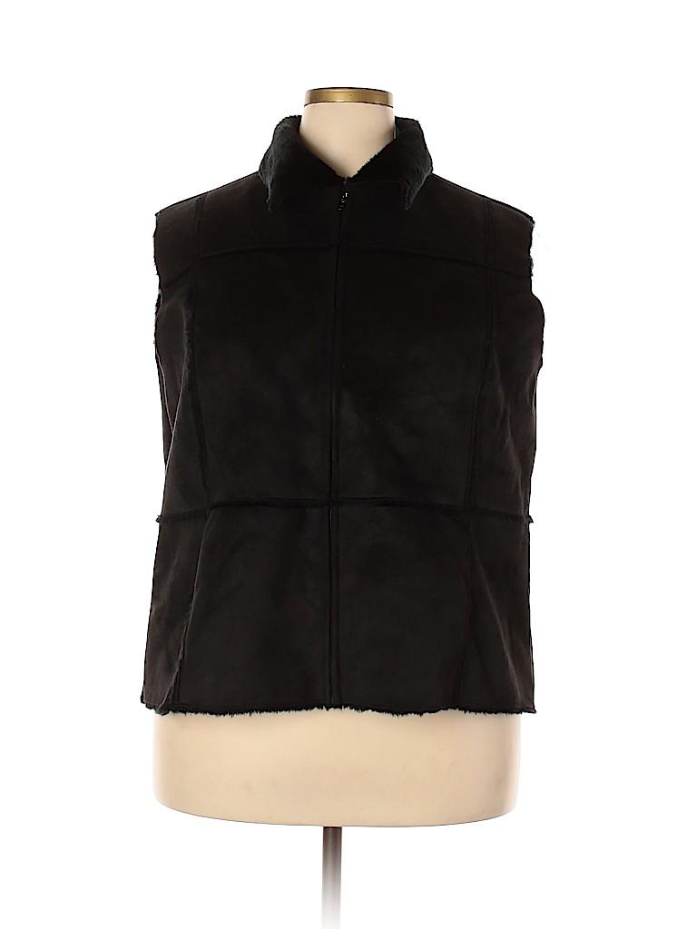 Relativity Women Vest Size 2X (Plus)
