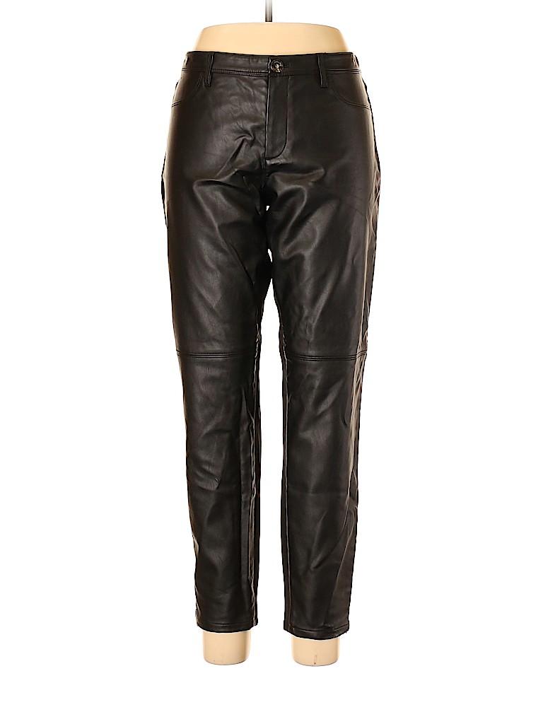 Banana Republic Women Faux Leather Pants Size 14