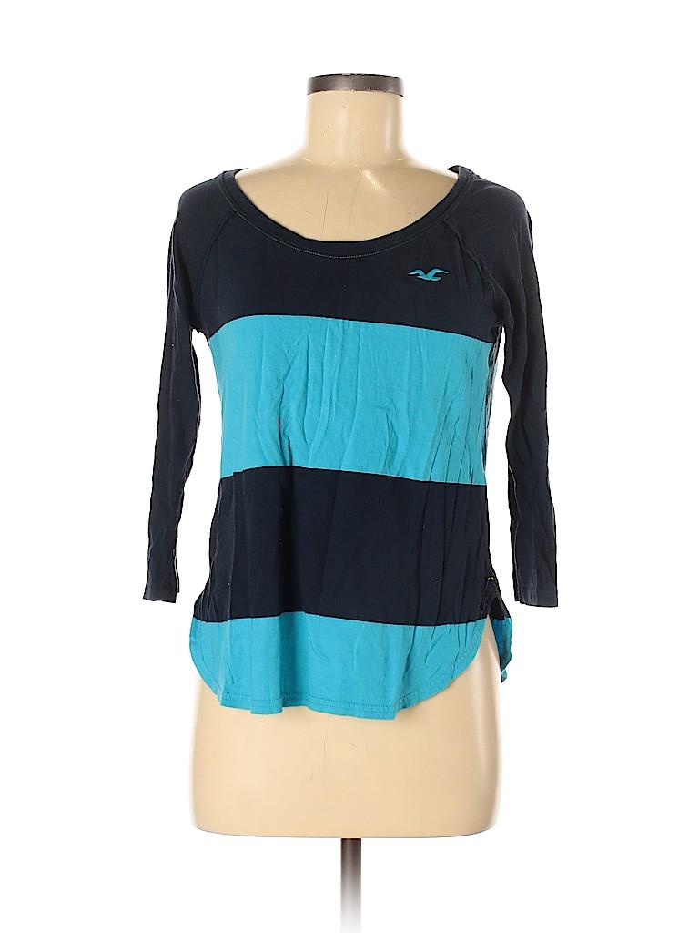 Hollister Women 3/4 Sleeve T-Shirt Size M