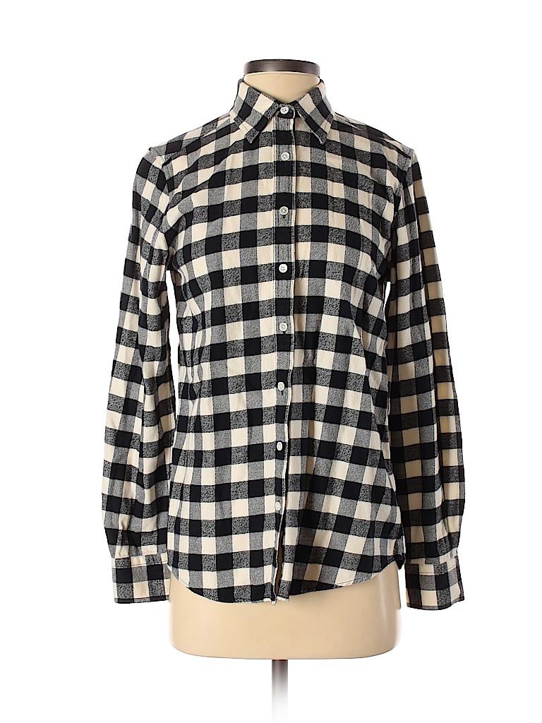 Lands' End Women Long Sleeve Button-Down Shirt Size 2 - 4
