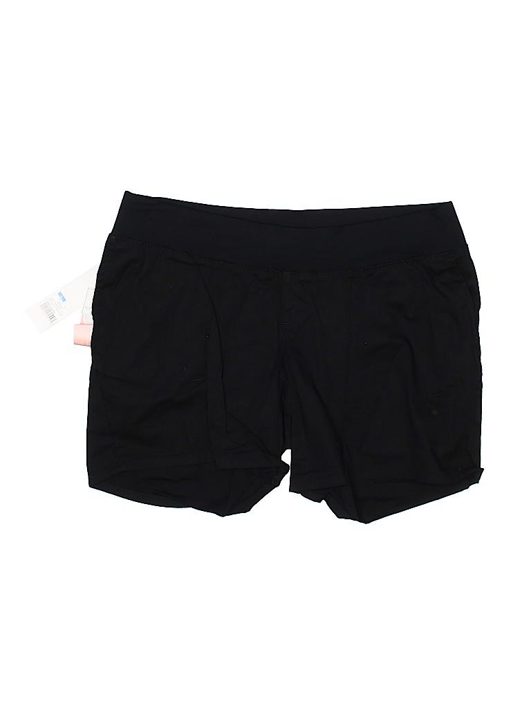 Liz Lange Maternity Women Khaki Shorts Size L (Maternity)