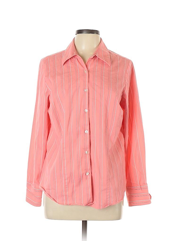 George Women Long Sleeve Button-Down Shirt Size 16