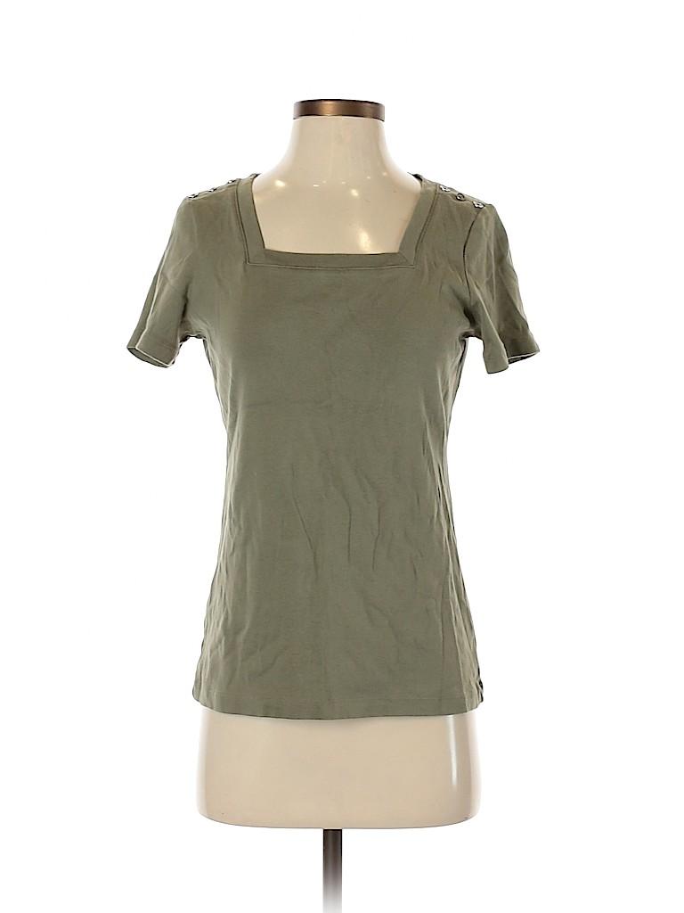 Karen Scott Women Short Sleeve T-Shirt Size S