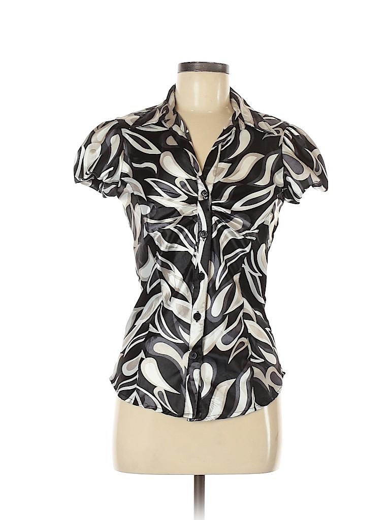 Vintage DCC Women Short Sleeve Blouse Size S
