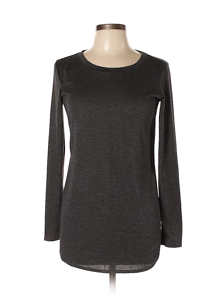 90 Degrees by Reflex Women Long Sleeve T-Shirt Size M